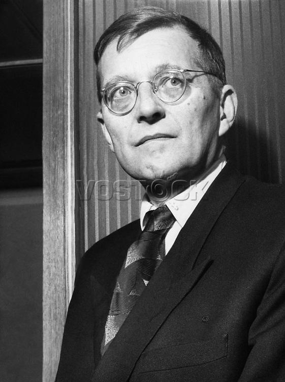 Shostakovich, Dmitri, 25.9.1906 - 9.8.1975, Russian composer, portrait, circa 1950s