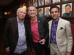 Terrence McNally, Tom Kirdahy and Matthew Lopez during the Robert Whitehead Award Ceremony honoring Tom Kirdahy at Sardi's on 5/22/2019 in New York City.
