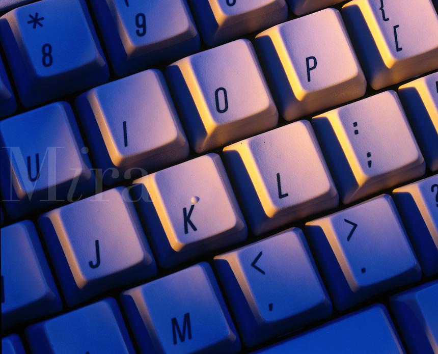 Close-up of computer keyboard.