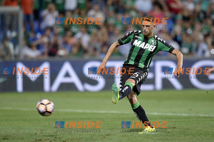 gol Domenico Berardi goal<br /> Reggio Emilia 04-08-2016 Stadio Mapei Football Calcio Europa League 2016/2017 Sassuolo - Lucerna. Foto Daniele Buffa / Image Sport / Insidefoto