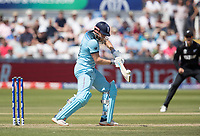 Jonny Bairstow (England) cuts backward of point during England vs New Zealand, ICC World Cup Cricket at The Riverside Ground on 3rd July 2019