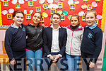 O'Brennan NS hosting Erasmus visit by teachers and pupils from 5 European countries at the school on Monday. L to r: Alice Savage, Aurora Pirri from Italy, Barry O'Leary (Principal), Sonia Balart from Spain and Andrea Greer.