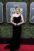 Nominated for BEST SCREENPLAY &ndash; MOTION PICTURE for &quot;Lady Bird,&quot; Greta Gerwig arrives at the 75th Annual Golden Globe Awards at the Beverly Hilton in Beverly Hills, CA on Sunday, January 7, 2018.<br /> *Editorial Use Only*<br /> CAP/PLF/HFPA<br /> &copy;HFPA/PLF/Capital Pictures