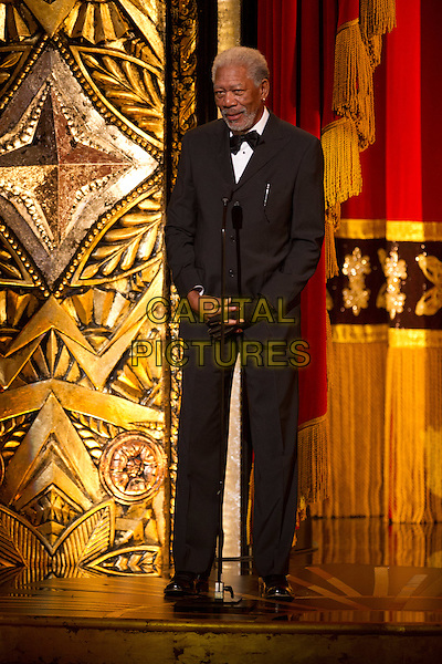 Morgan Freeman presents at the live ABC Televison Network broadcast of the 84th Annual Academy Awards® from the Hollywood and Highland Center, in Hollywood, CA, Sunday, February 26, 2012..*Editorial Use Only*.oscars black suit stage full length.CAP/A.M.P.A.S./NFS.©A.M.P.A.S. Supplied by Capital Pictures.