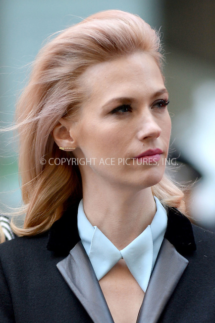 WWW.ACEPIXS.COM<br /> March 23, 2015 New York City<br /> <br /> January Jones attending the 'Mad Men' art installation Unveiling at Time &amp; Life Building on March 23, 2015 in New York City. <br /> <br /> Please byline: Kristin Callahan/AcePictures<br /> <br /> ACEPIXS.COM<br /> <br /> Tel: (646) 769 0430<br /> e-mail: info@acepixs.com<br /> web: http://www.acepixs.com