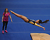 Bethpage gymnastics at Long Beach High School Monday, January 4, 2016. Ashley Feliz - Vault