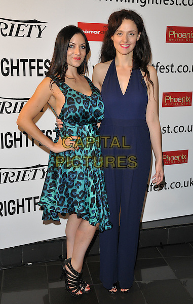 Dani Thompson &amp; Serena Chloe Gardner attend the &quot;Banjo&quot; UK film premiere, Film4 FrightFest, Vue West End cinema, Leicester Square, London, England, UK, on Monday 31 August 2015. <br /> CAP/CAN<br /> &copy;CAN/Capital Pictures