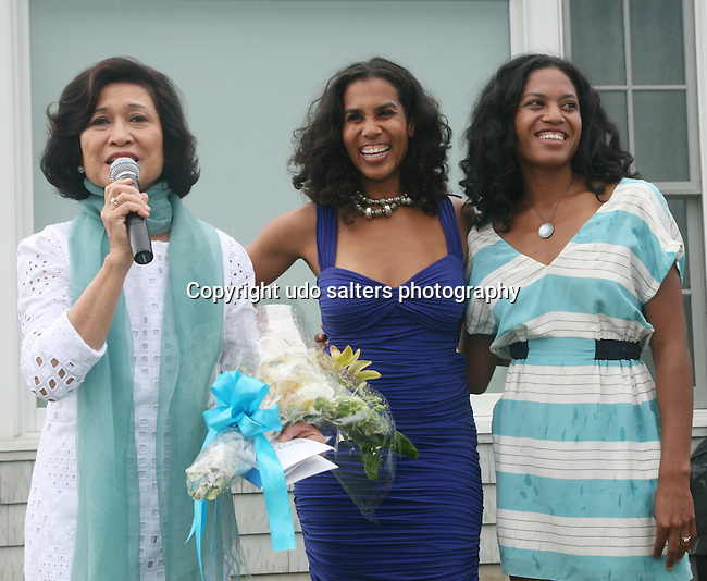 Chair of the RFL Foundation Loida N. Lewis, Leslie Lewis and Christina Lewis attend &quot;Beach Glamour in the Hamptons, A Benefit Party<br />