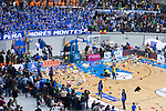 Teddy bears raining at Coliseum Burgos during Liga Endesa match between San Pablo Burgos and Gipuzkoa Basket at Coliseum Burgos in Burgos, Spain. December 30, 2017. (ALTERPHOTOS/Borja B.Hojas)
