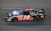 May 2, 2008; Richmond, VA, USA; NASCAR Nationwide Series driver Jason Leffler during the Lipton Tea 250 at the Richmond International Raceway. Mandatory Credit: Mark J. Rebilas-