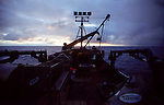 The day dawns as the crabber-tender Rogue makes her way across the Gulf of Alaska following the season from Bristol Bay to Southeast Alaska.