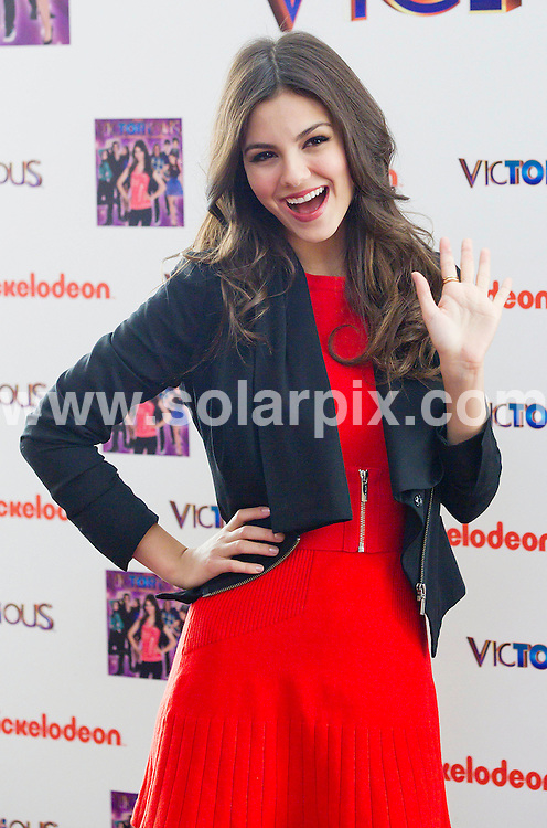 **ALL ROUND PICTURES FROM SOLARPIX.COM**                                             **NO SYNDICATION PERMITTED IN SPAIN,GERMANY,FRANCE,ITALY,POLAND** .American actress Victoria Justice attends the photocall for the Victorious series in Madrid.   .                                                                                                                            This pic: Victoria Justice                                                                                             JOB REF: 14502       SPQ/cordoba      DATE: 23.02.2012                                                           **MUST CREDIT SOLARPIX.COM OR DOUBLE FEE WILL BE CHARGED**                                                                      **MUST AGREE FEE BEFORE ONLINE USAGE**                               **CALL US ON: +34 952 811 768 or LOW RATE FROM UK 0844 617 7637**