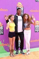 LOS ANGELES - July 13:  Sophia Strahan, Michael Strahan, Isabella Strahan at the Nickelodeon Kids' Choice Sports Awards 2017 at the Pauley Pavilion on July 13, 2017 in Westwood, CA
