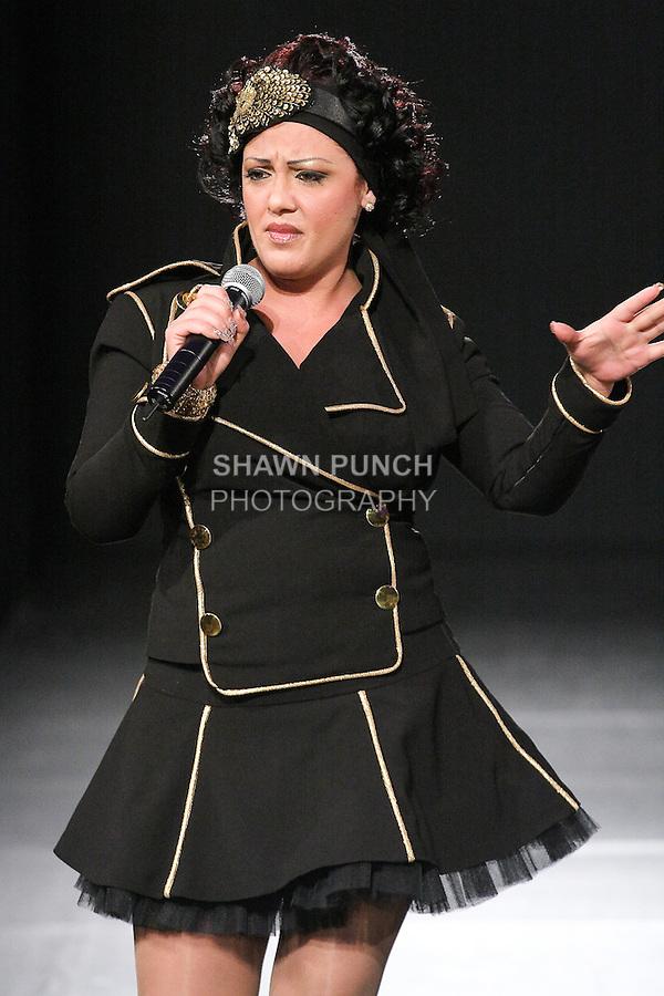 Singer/songwriter Kaya, performs during Couture Fashion Week Fall 2011 in New York City.
