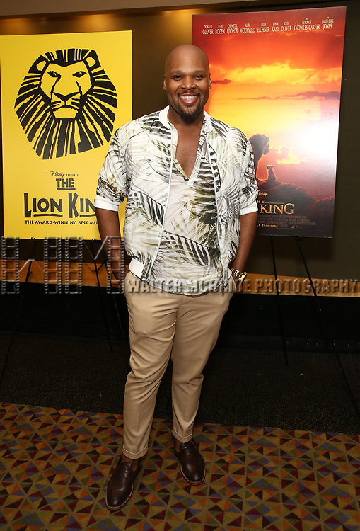 """Michael James Scott attends the Broadway screening of the Motion Picture Release of """"The Lion King"""" at AMC Empire 25 on July 15, 2019 in New York City."""