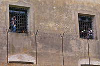Casa di reclusione di Porto Azzurro, isola d' Elba..House of imprisonment of Porto Azzurro, Elba Island.  .Finestre delle celle dei detenuti. Windows of the cells of prisoners....