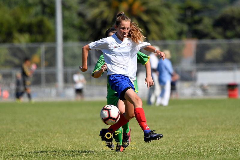 National Age Group Tournament at Petone Memorial Park, Lower Hutt, New Zealand on Sunday 16 December 2018. <br /> Photo by Masanori Udagawa. <br /> www.photowellington.photoshelter.com