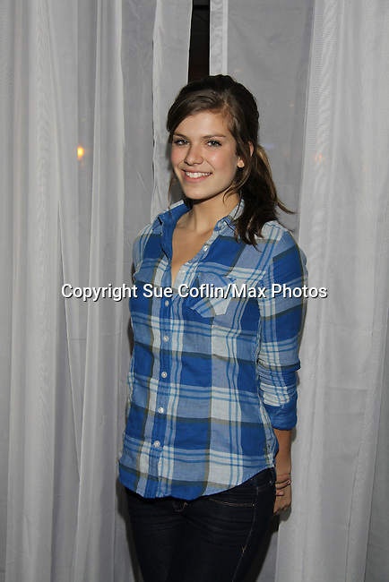 OLTL Kelley Missal at The Seventh Annual Daytime Stars and Strikes benefitting The American Cancer Society hosted by Elizabeth Keifer and Jerry VerDorn with actors from One Life To Live, All My Children, As The World Turns and Guiding Light on October 9, 2010 in New York City, New York. (Photo by Sue Coflin/Max Photos)