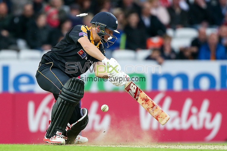 Picture by Alex Whitehead/SWpix.com - 19/06/2015 - Cricket - NatWest T20 Blast - Yorkshire Vikings v Nottinghamshire Outlaws - Headingley Cricket Ground, Leeds, England - Yorkshire's Gary Ballance is bowled.