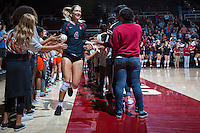 STANFORD, CA - September 9, 2016: Kelsey Humphreys at Maples Pavilion. The Purdue Boilermakers defeated the Stanford Cardinal 3 - 2.