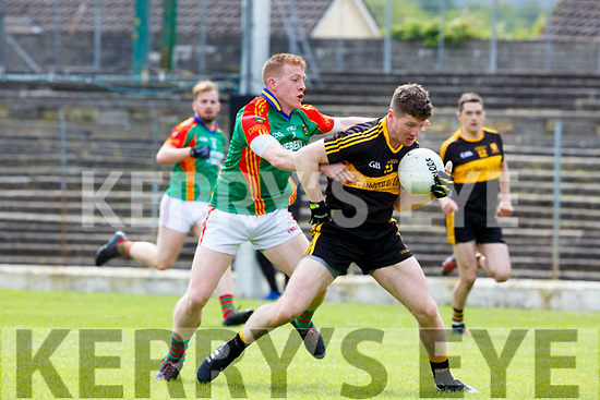 Pa Kilkenny Mid Kerry tackles Kieran O'Leary Dr Crokes during their SFC clash in Fitzgerald Stadium on Sunday