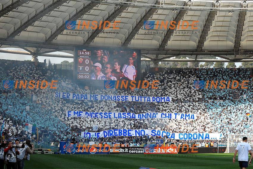 """Tifosi Lazio.Roma 4/3/2012 Stadio """"Olimpico"""".Football Calcio 2011/2012 Serie A.Roma Vs Lazio.Foto Insidefoto Andrea Staccioli"""