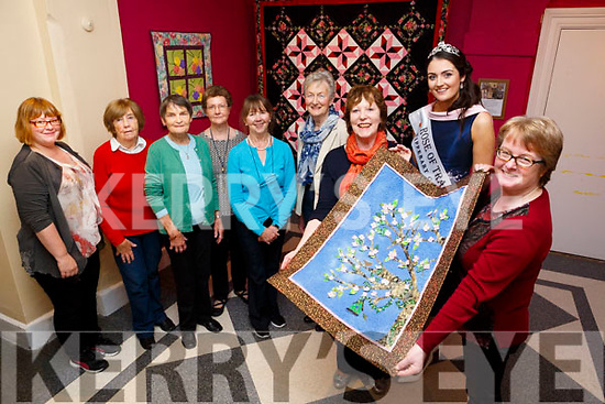 Rose of Tralee Jennifer Byrne was on hand at the County Museum on Thursday when Anna Hickson from Ciar Quilters presented a quilt to Helen O Carroll (curator.of Kerry County Museum)  Pictured Claudia Köhler (Education Officer Kerry County Museum),Breda Browne, Sharon Hodgkiss, Philomena Curran, Eileen Kennedy, Nuala O'Connor