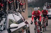 Jasper Stuyven (BEL/Trek-Segafredo) returning to the peloton<br /> <br /> 61th E3 Harelbeke (1.UWT)<br /> Harelbeke - Harelbeke (206km)