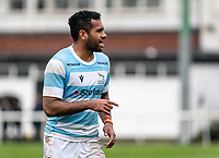 George Wacokecoke of Newcastle Falcons during the Greene King IPA Championship match between London Scottish Football Club and Newcastle Falcons at Richmond Athletic Ground, Richmond, United Kingdom on 12 October 2019. Photo by Liam McAvoy.