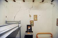 - Marche, casa lesionata nella frazione Cupi di Visso dopo il terremoto dell'ottobre/novembre 2016<br /> <br /> - Marche region, home damaged in the village of Cupi Visso after the earthquake of October / November 2016
