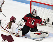 Brittany Bugalski (NU - 39) -  The Boston College Eagles defeated the Northeastern University Huskies 2-1 in overtime to win the 2017 Hockey East championship on Sunday, March 5, 2017, at Walter Brown Arena in Boston, Massachusetts.