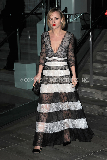 www.acepixs.com<br /> <br /> December 6 2016, New York City<br /> <br /> Christina Ricci arriving at An Evening Honoring Carolina Herrera at Alice Tully Hall at the Lincoln Center on December 6, 2016 in New York City.<br /> <br /> By Line: Kristin Callahan/ACE Pictures<br /> <br /> <br /> ACE Pictures Inc<br /> Tel: 6467670430<br /> Email: info@acepixs.com<br /> www.acepixs.com