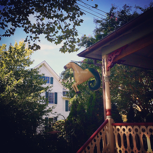 Seahorse house decor on a Victorian home in Cape May, New Jersey on September 6, 2015.