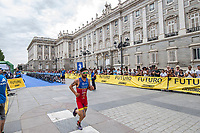 Roberto Sanchez of Spain during the 2017 Madrid ITU Triathlon World Cup in Madrid, May 28, 2017. Spain.. (ALTERPHOTOS/Rodrigo Jimenez) /NortePhoto.com