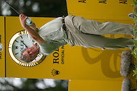 Straffin Co Kildare Ireland. K Club Ruder Cup...European Ryder Cup team members Darren Clarke drives off from the 17th tee box on the opening fourball session on the first day of the 2006 Ryder Cup, at the K Club in Straffan, Co Kildare, in the Republic of Ireland, 22 September 2006..Photo: Eoin Clarke/ Newsfile..
