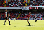 John Fleck of Sheffield Utd  takes a free kick which hits the post during the English Championship League match at Bramall Lane Stadium, Sheffield. Picture date: August 5th 2017. Pic credit should read: Simon Bellis/Sportimage