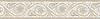 "8"" Countess border, a hand-cut stone mosaic, shown in polished Crema Marfil, Botticino, and Thassos."
