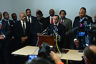 Washington, DC - January 9, 2017: Rev. Dean Nelson, Director of African-American Outreach for the Family Research Council's Watchmen on the Wall, speaks in support of Senator Jeff Sessions' confirmation as Attorney General during a news conference with other pastors at the Cannon House Office Building in the District of Columbia, January 9, 2017.  (Photo by Don Baxter/Media Images International)