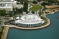 aerial photograph Shedd Aquarium, Chicago, Illinois