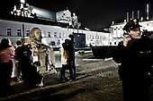 Warsaw 12/04/2010 Poland<br /> People mourning the tragic death of President Lech Kaczynski and his wife.<br /> Photo: Adam Lach / Napo Images for The New York Times<br /> <br /> Zaloba po tragicznej smierci Prezydenta Lecha Kaczynskiego i jego malzonki.<br /> Fot: Adam Lach / Napo Images for The New York Times