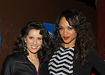 """Prospect Park's All My Children's Heather Roop """"Jane McIntyre"""" poses with castmate Sal Stowers """"Cassandra Foster"""" at the after party of New York Premiere Event for beloved series """"All My Children"""" on April 23, 2013 at NYU Skirball, New York City, New York  as The Online Network (TOLN) - AMC - OLTL  begin airing on April 29, 2013 on Hulu, Hulu Plus. (Photo by Sue Coflin/Max Photos)"""