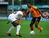 Pictured: Harry Taylor of Barnet (R) against Kyle Naughton of Swansea City Wednesday 12 July 2017<br /> Re: Pre-season friendly, Barnet v Swansea City FC at The Hive, London, UK
