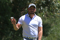 Zander Lombard (RSA) in action on the 1st during Round 3 of the ISPS Handa World Super 6 Perth at Lake Karrinyup Country Club on the Saturday 10th February 2018.<br /> Picture:  Thos Caffrey / www.golffile.ie<br /> <br /> All photo usage must carry mandatory copyright credit (&copy; Golffile | Thos Caffrey)