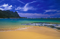 Hanalei Beach with view of Bali High Mountain, Kauai