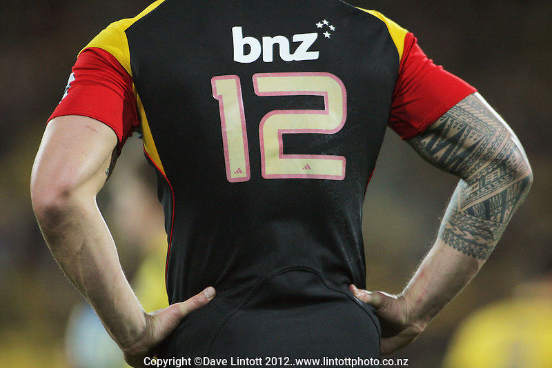 Sonny Bill Williams waits for play during the Super 15 rugby match between the Hurricanes and Chiefs at Westpac Stadium, Wellington, New Zealand on Friday, 13 July 2012. Photo: Dave Lintott / lintottphoto.co.nz