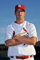 Mar 01, 2010; Jupiter, FL, USA; St. Louis Cardinals pitcher Evan MacLane (76) during  photoday at Roger Dean Stadium. Mandatory Credit: Tomasso De Rosa/ Four Seam Images