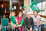 l-r  Connell Locke, Marian Locke, Roisin Locke, Michael Locke and Mary Louise O'Connor supporting Ultan Dillane and the Connacht Team in the PRO 12 Rugby Final against Leinster at Murrayfield in Scotland on Saturday. Watching the Game on the Big screen at Tralee Rugby Club