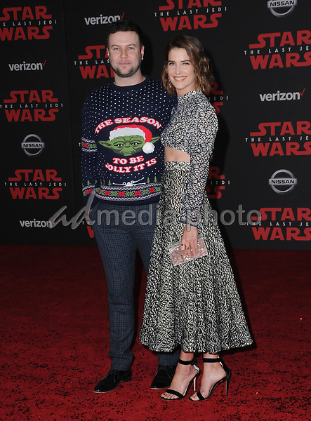 "09 December  2017 - Los Angeles, California - Taran Killam, Colbie Smulders. Premiere Of Disney Pictures And Lucasfilm's ""Star Wars: The Last Jedi"" held at The Shrine Auditorium  in Los Angeles Photo Credit: Birdie Thompson/AdMedia"