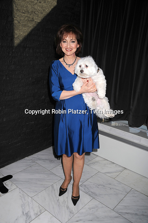 "Robin Strasser and her dog Scooter..posing for photographers at The ""Bideawee Ball: For The Love of Pets"" Gala on  May 6, 2008 at Espace at The Atelier in New York City. ....Robin Platzer, Twin Images"