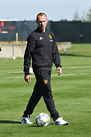 20190910 - TUBIZE , BELGIUM : Belgian assistant coach Thomas Buffel pictured during his first match as new assistant coach in the friendly  soccer match between Men's under 19 teams of  Belgium and Czech Republic , in Tubize , Belgium . Tuesday 10th September 2019 . PHOTO SPORTPIX.BE / DIRK VUYLSTEKE